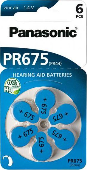 Hörgerätebatterien Panasonic PR675 - Blister à 6 Knopfzellen