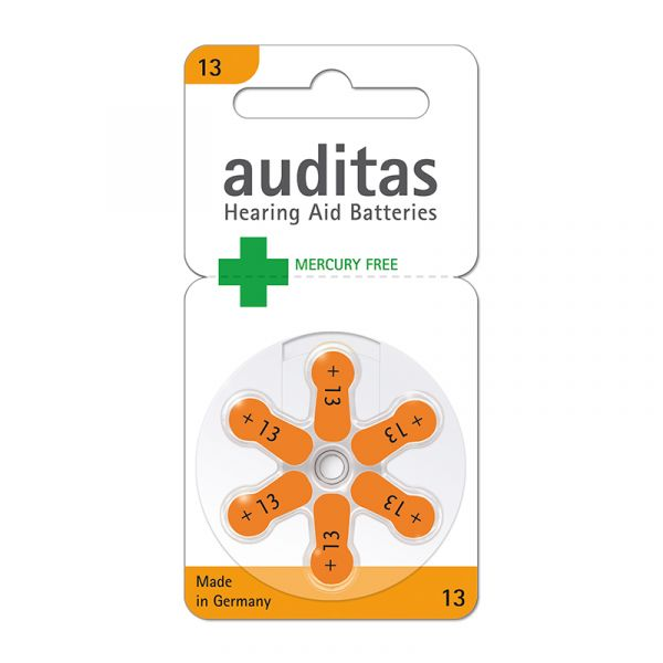 auditas 13 Hörgerätebatterien