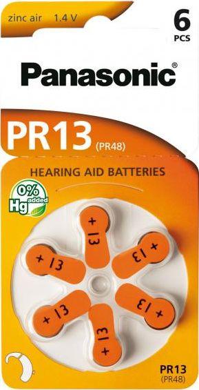 Hörgerätebatterien Panasonic PR13 - Blister à 6 Knopfzellen