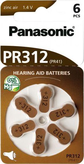 Hörgerätebatterien Panasonic PR312 - Blister à 6 Knopfzellen