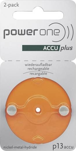 power one Accu plus p13 wiederaufladbare Hörgerätebatterien - wiederverwendbare Akkus