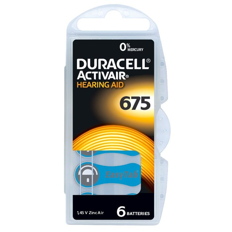 Hörgerätebatterien Typ 10-13 312-675: Duracell Siemens Powerone,