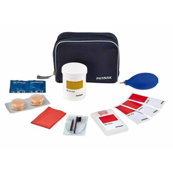 Phonak C&C Kit1 Pflegeset zur Reinigung und Desinfektions von HdO-Hörgeräten mit Ohrpassstück