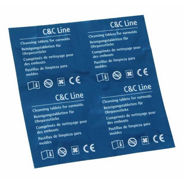 Phonak C&C Reinigungstabletten für Hörgeräte-Ohrpassstücke - 20 Tabletten