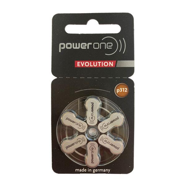 Power One Evolution p312 Hörgerätebatterien von Varta - Einzelblister mit 6 Zellen - Quecksilberfrei