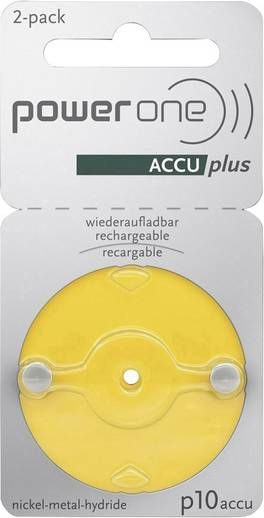 power one Accu plus p10 wiederaufladbare Hörgerätebatterien - wiederverwendbare Akkus