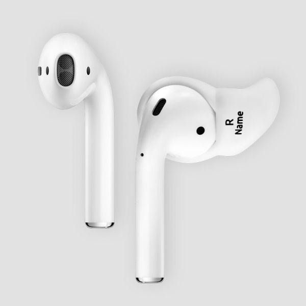 Snug Otoplastik für Apple AirPods - Massgefertigtigte Otoplastik Aufsätze mit graviertem Namen