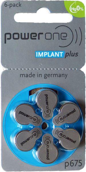 Hörgerätebatterien Power One IMPLANT plus 675 HG0%