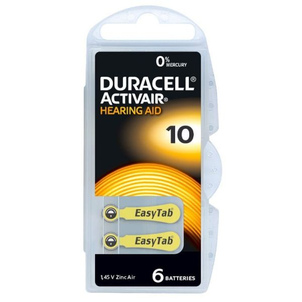 Hörgerätebatterie Duracell Activair 10