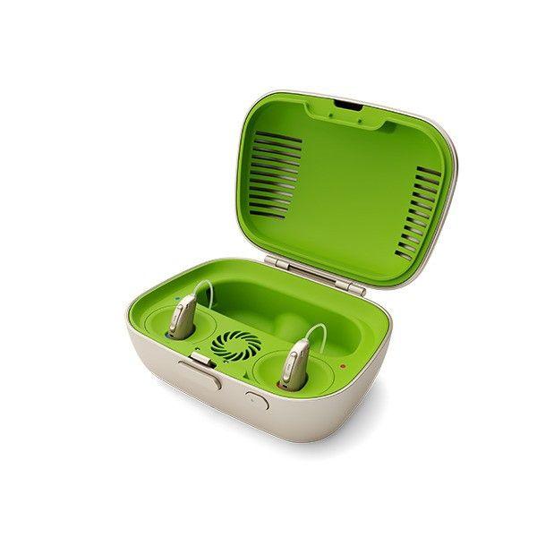 Phonak Charge and Care - Kombinierte Trocknungs- und Ladestation mit EU Stecker 230 Volt / USB