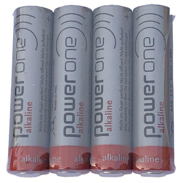 PowerOne Varta Batterie AAA LR03 1.5Volt - 4 Stück Alkaline High Energy Micro Batterien für Hörgeräte-Zubehör