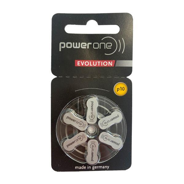 Power One Evolution p10 Hörgerätebatterien von Varta - Einzelblister mit 6 Zellen - Quecksilberfrei