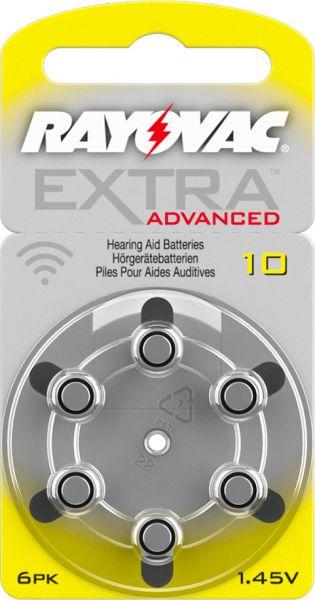 Rayovac Extra Advanced 10 Knopfzellen Hörgeräte- Batterien
