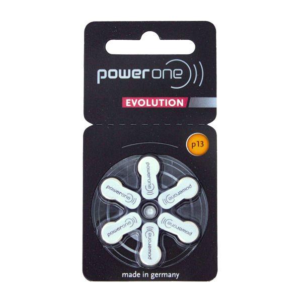 Power One Evolution p13 Hörgerätebatterien von Varta - Einzelblister mit 6 Zellen - Quecksilberfrei