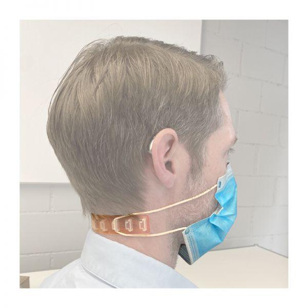 Korrekt: Maskenhalter Ohren-Held für Hörgeräte & Brillenträger entlastet Ohren
